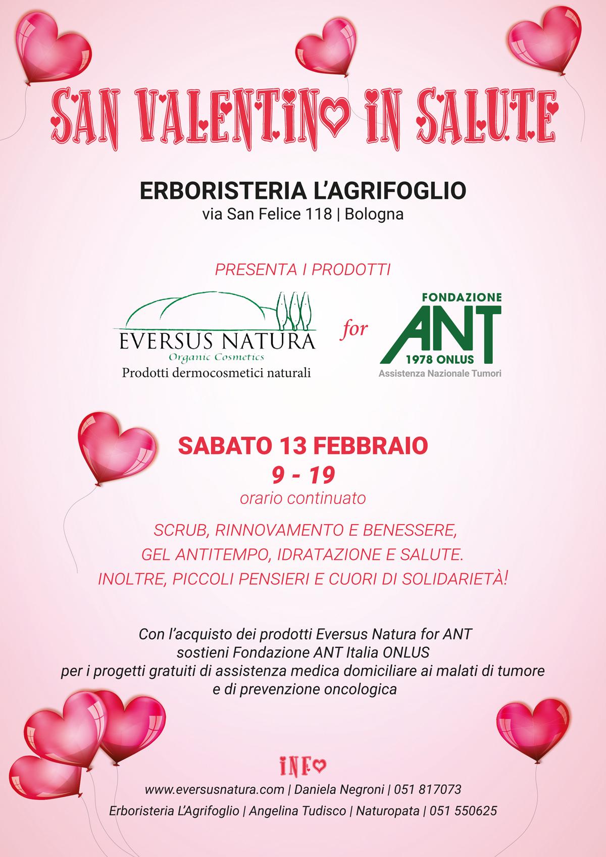 San valentino in salute fondazione ant italia onlus for San valentino in italia