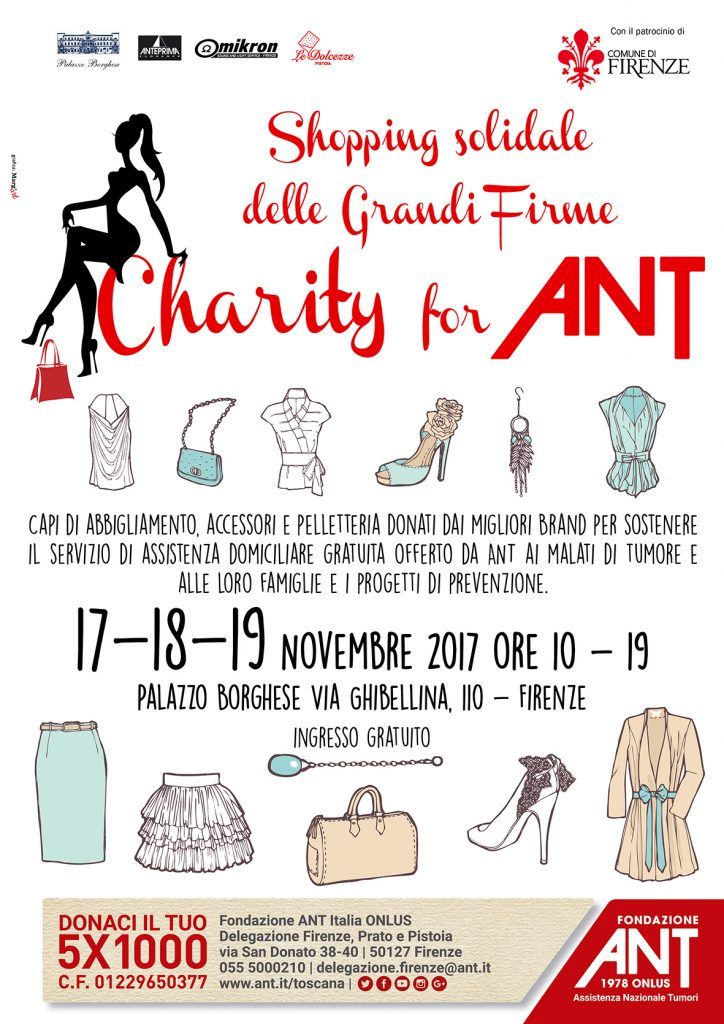 Charity for ANT: Shopping Solidale delle Grandi Firme