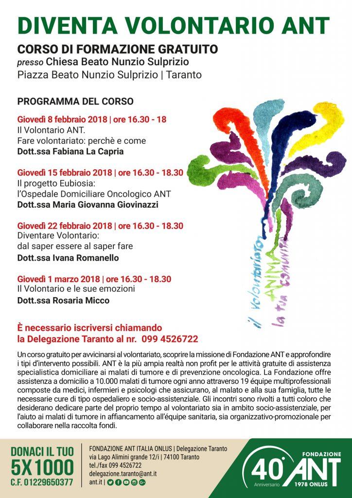 Diventa Volontario ANT – Taranto