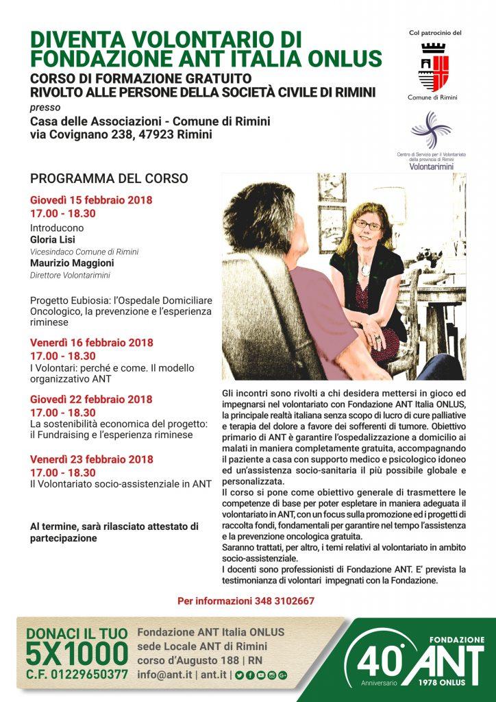 Diventa Volontario ANT – Rimini