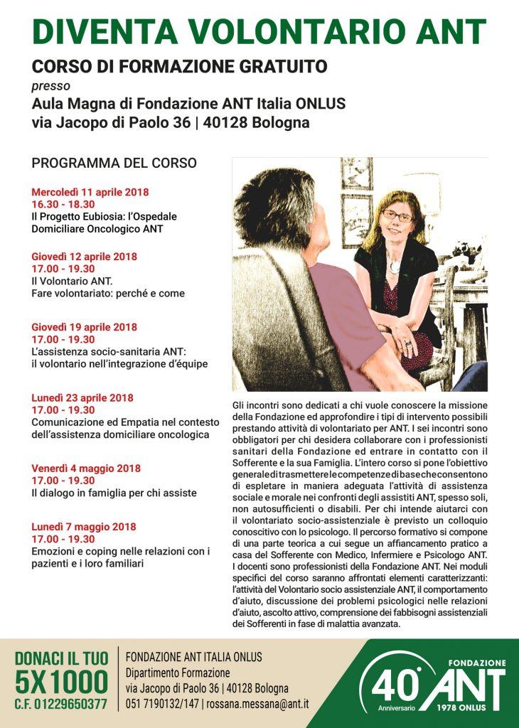 Diventa Volontario ANT – Bologna