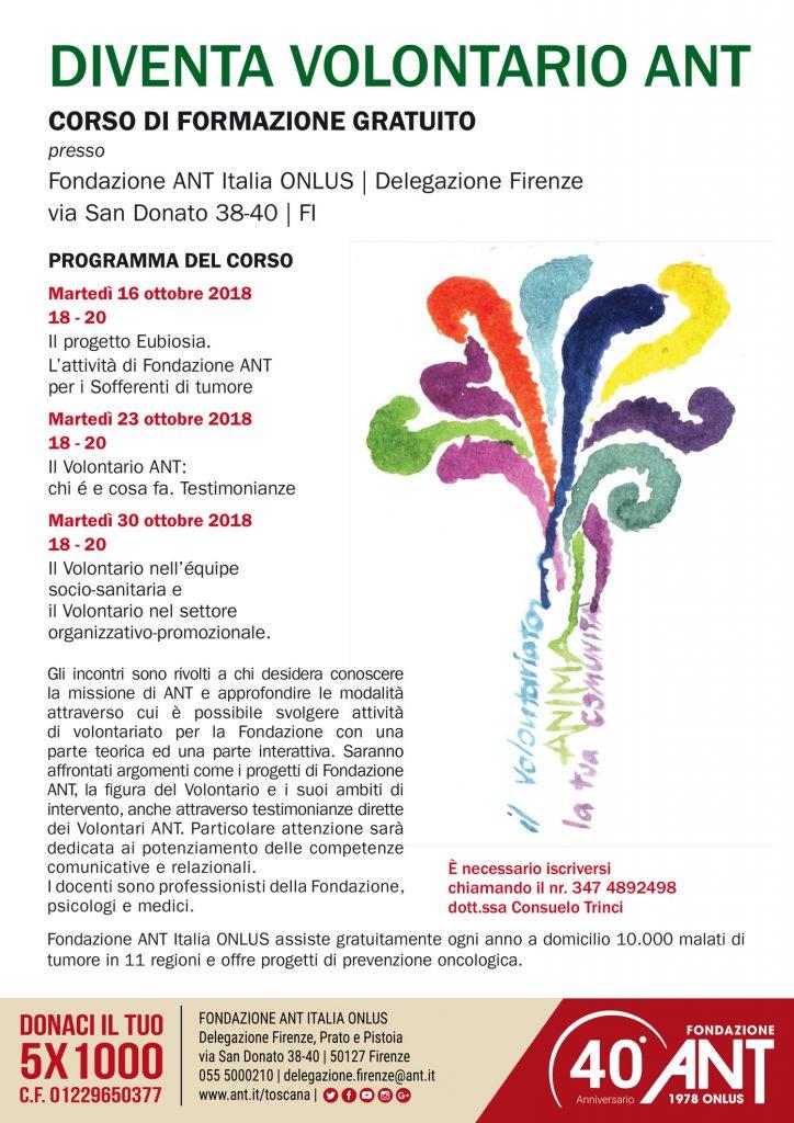 Diventa Volontario ANT a Firenze