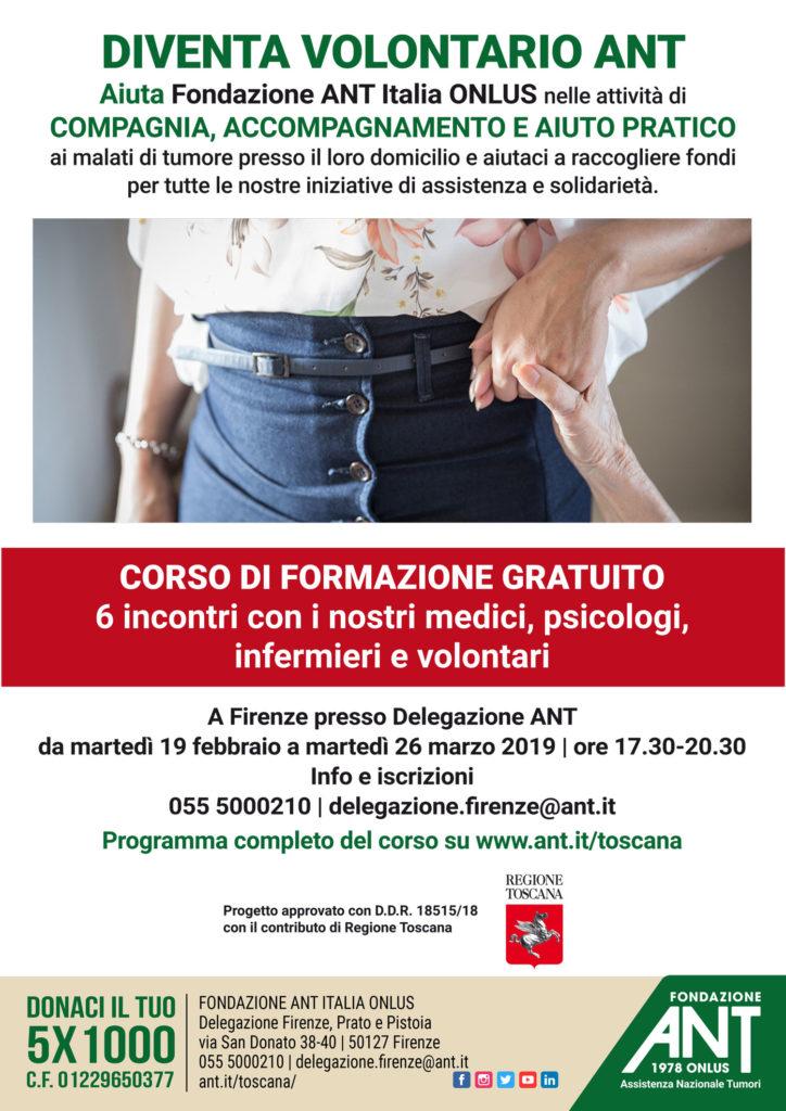Nuovo Corso per Diventare Volontari ANT – Firenze