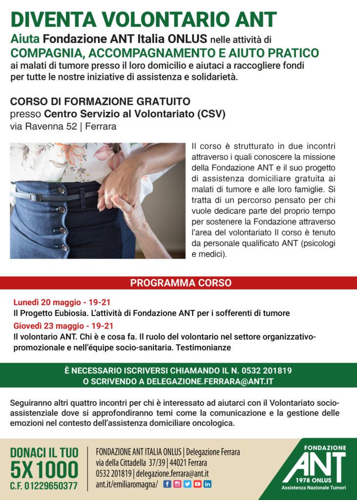 Diventa Volontario ANT – Ferrara