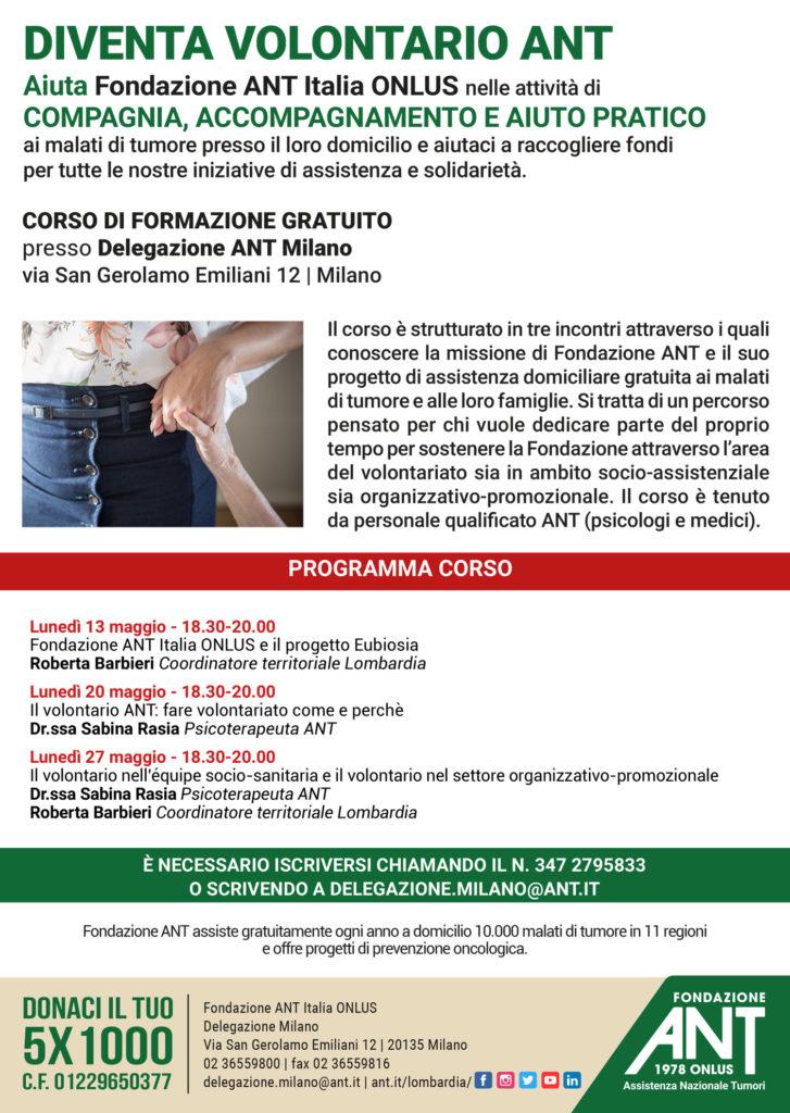 Diventa Volontario ANT – Milano