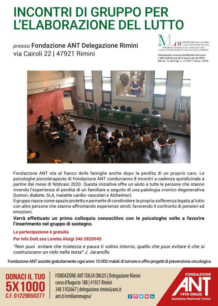 A Rimini otto incontri gratuiti sull'elaborazione del lutto con ANT