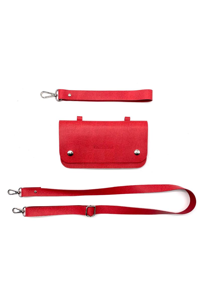 BOLGETTA IN PELLE + ACCESSORI PER TRACOLLA, VARI COLORI   <B style='color:red'>SOLO BOLOGNA E PROVINCIA</B>